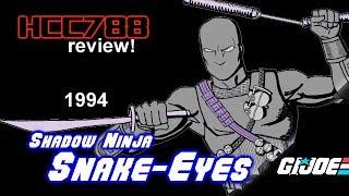 HCC788 - 1994 Shadow Ninjas SNAKE-EYES (v6) - Vintage G.I. Joe toy!