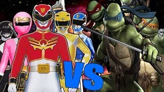 Tortugas Ninja Vs Power Rangers l UltraCombates De Rap Legendario l AdriRoSan ft Otros
