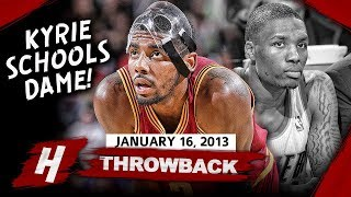 MASKED Kyrie Irving SCHOOLS Lillard! CRAZY Highlights vs Blazers 2013.01.16 - 31 Pts, CLUTCH