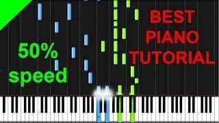 Bryan Adams - Heaven 50% speed piano tutorial
