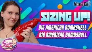 Sizing-up Huge Dildo | Mom Tries Big American Bombshell War Daddy Dildo