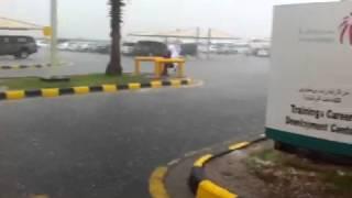 عاصفة ٣ بترو رابغ مطر + برد ٢٣-١-١٤٣٦هـ