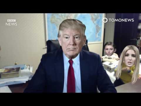Donald Trump's family crashes 'BBC Dad' viral interview TomoNews