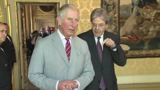 Gentiloni riceve il Principe di Galles