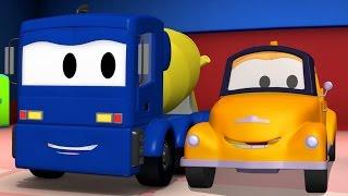 Xe chở bê tông Và Tom - Chiếc xe tải kéo | Phim hoạt hình chủ đề xe hơi và xe tải xây dựng