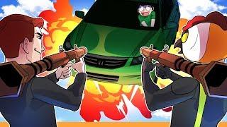 GTA 5 Online Funny Moments: The Starfish Flip, Cars vs Rockets & Rocket Sniping Nogla!