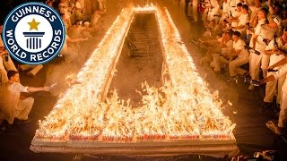 Most lit candles on a cake - Guinness World Records