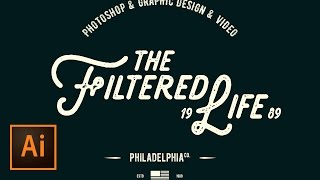 Create a Simple Hipster Logo Design in Illustrator – Retro Text Effect Vector Graphics