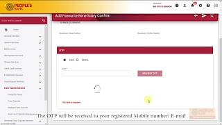 People's Web | Favourite Beneficiary - People's Bank Other Accounts