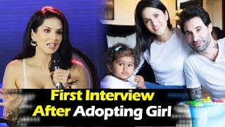 Sunny Leone's FIRST INTERVIEW After Adopting A Girl From Latur - Nisha Kaur Weber