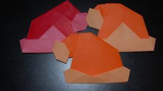 Origami Santa Claus Cap, Hat Videos / 종이접기 산타 모자 접는 방법 동영상