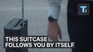 This suitcase follows you by itself