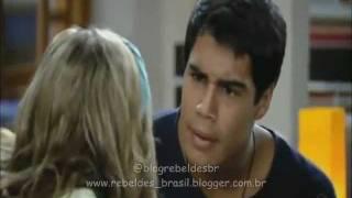 Rebelde Brasil - Pedro diz a Alice que não quer ter que escolher entre ela e os amigos (17/01/2012)