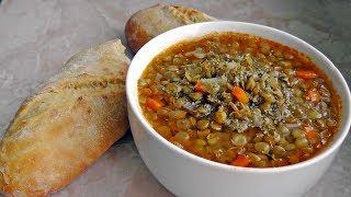 Greek Lentil Soup - Fakes - Vegan Vegetarian Recipe
