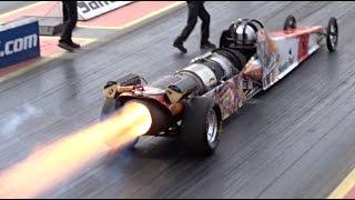 FireForce 5 Jet Car at Santa Pod Raceway - 1/4 Mile 5.07 @ 298mph