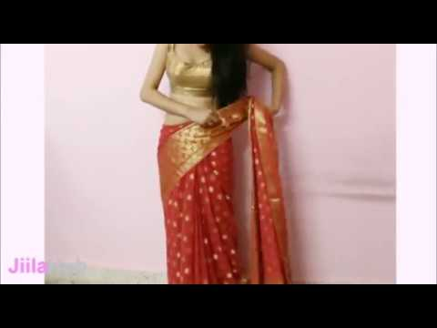 Xxx Mp4 Artistic Saree Wearing Method How To Wrap Indian Ethnic Sari Steps 3gp Sex