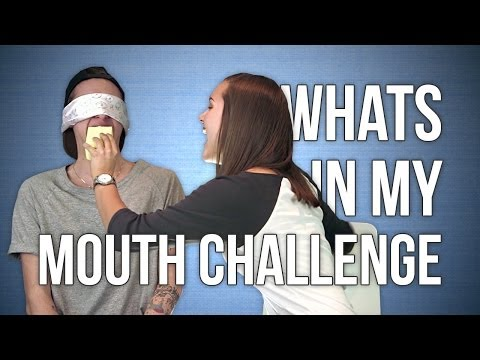 What s in my mouth challenge  Med min syster