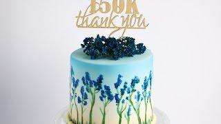 Hand Painted Floral Cake Tutorial- Rosie