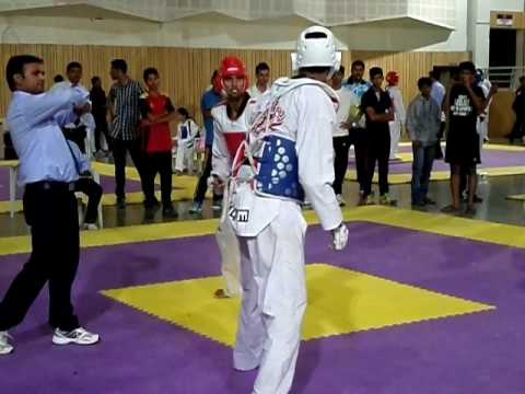 Jaswant [Haryana] Vs Manu George [Kerala] At CWG Taekwondo Selection At Pune 2014-15 Part-2