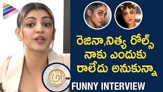 Kajal Aggarwal Jealous of Nithya Menon and Regina | AWE Team Interview | Nani | #AWE 2018 Movie
