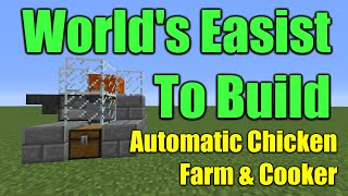 Minecraft Automated Chicken Farm and Cooker Tutorial [100% Fully Automatic] Get Infinite Food.