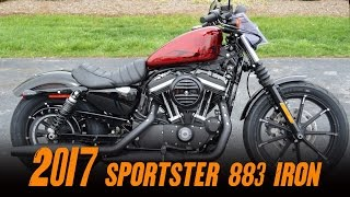 2017 Harley-Davidson Sportster 883 Iron XL883N Hot Red Flake