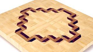 Making a 3D end grain cutting board #6