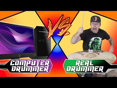 Real Drummer VS Computer Drums