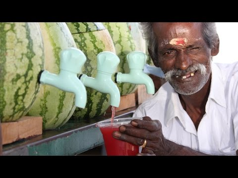 100 KG Watermelon juice prepared by my DADDY for Homeless Peoples Village food factory