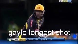Chris Gayle 130 meter six in BIG BASH (2016) - australian cricket