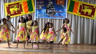 Kopara Kopara Pipinya -Sri Lankan New Year Celebration 2016 - Part 3- Letchworth Buddhist Temple UK