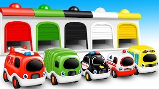 Colors for Children to Learn with Street Vehicles - Colours for Kids to Learn