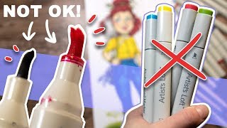 THE WORST MARKERS I'VE EVER TRIED?? - Testing Artist's Loft Sketch Markers