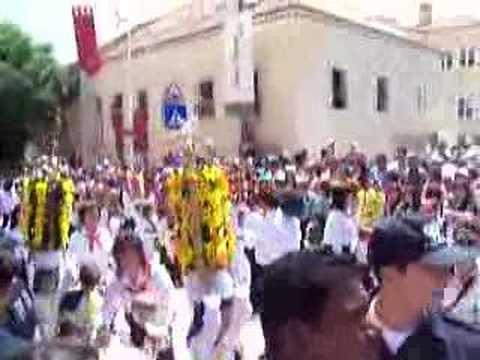 Festa dos Tabuleiros 2007 em Tomar Cortejo dos Rapazes 1