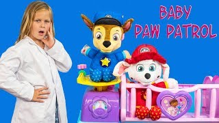 PAW PATROL Assisrtant Baby Doctor Nursery with Chase Rubble and Skye