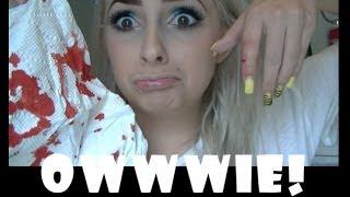 I cut my finger! OWW
