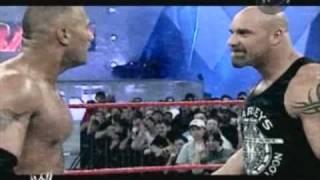 WWE Backlash 2003 The Rock vs Goldberg Promo HQ