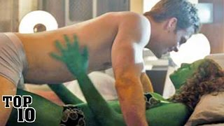 Top 10 Most Awkward Kiss Scenes In Movies - Part 2