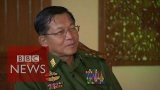 Myanmar's army chief 'expects a fair election' - BBC News