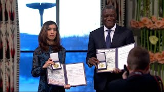 Nobel Peace Prize winners demand global action on mass rape