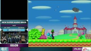 New Super Mario Bros. by altabiscuit in 0:26:22 - SGDQ2016 - Part 10