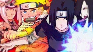 Naruto e Jiraiya VS. Sasuke e Orochimaru [Batalha de Gigantes]
