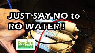 How to KILL your Plants slowly Using ONLY RO water in a Planted Aquarium