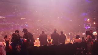 Cavs vs Pistons player introductions - The Palace of Auburn Hills