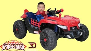 Dynacraft Ultimate Spiderman 12V Battery Powered Ride-On Car Dune Buggy Unboxing Park Playtime Ckn