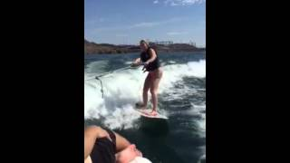 When you don't want your bikini bottoms to fall off when you try wake surfing.....