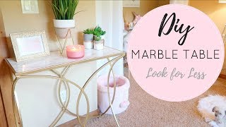 🖌 DIY Marble & Gold Table 🖌