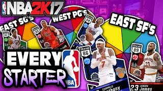 SPIN THE WHEEL OF EVERY STARTER IN THE LEAGUE! NBA 2K17 SQUAD BUILDER