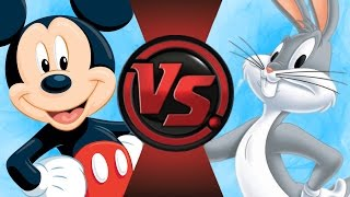 MICKEY MOUSE vs BUGS BUNNY! Cartoon Fight Club Episode 87