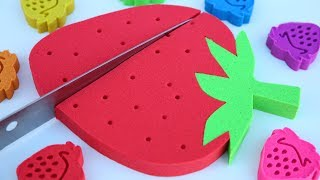DIY How To Make Kinetic Sand Giant Strawberry Best Learning Colors Kinetic Sand Hulk